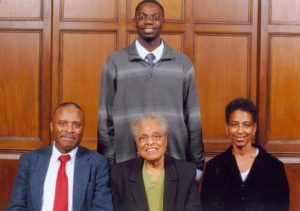 Garlin Gilchrist with Tarver family